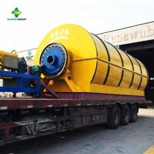 Waste tyres into crude oil pyrolysis machine