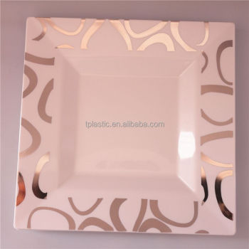 Disposable PS plastic plate with hot st& plastic plates for weddings : disposable square plastic plates - pezcame.com