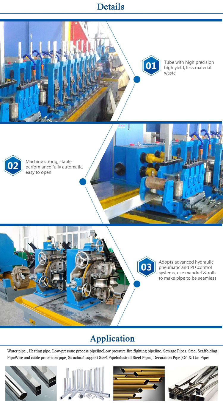 Full automatic customized steel pipe making machine with high frequency