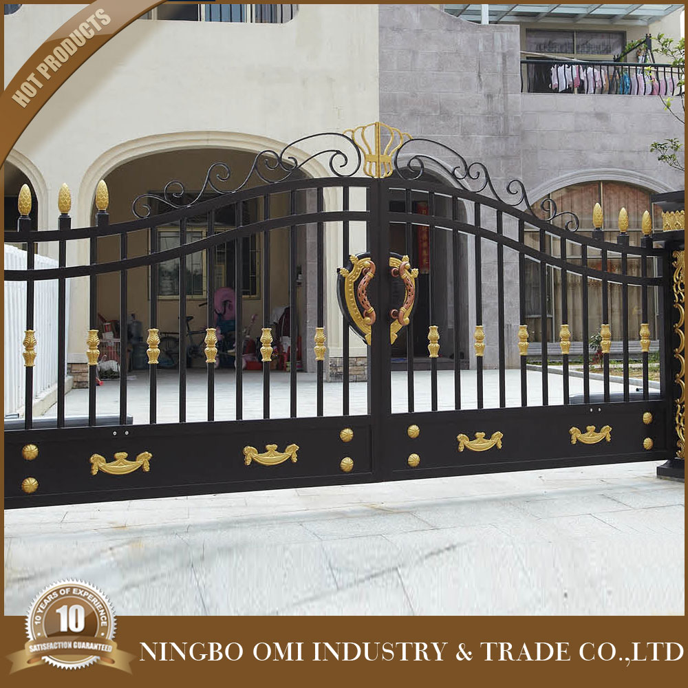 Hot sales best quality new style ornamental wrought for International decor main gates