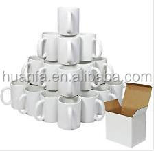 Best selling Premium Grade A 11/16 oz white coated sublimation ceramic mugs buy from China factory supplier