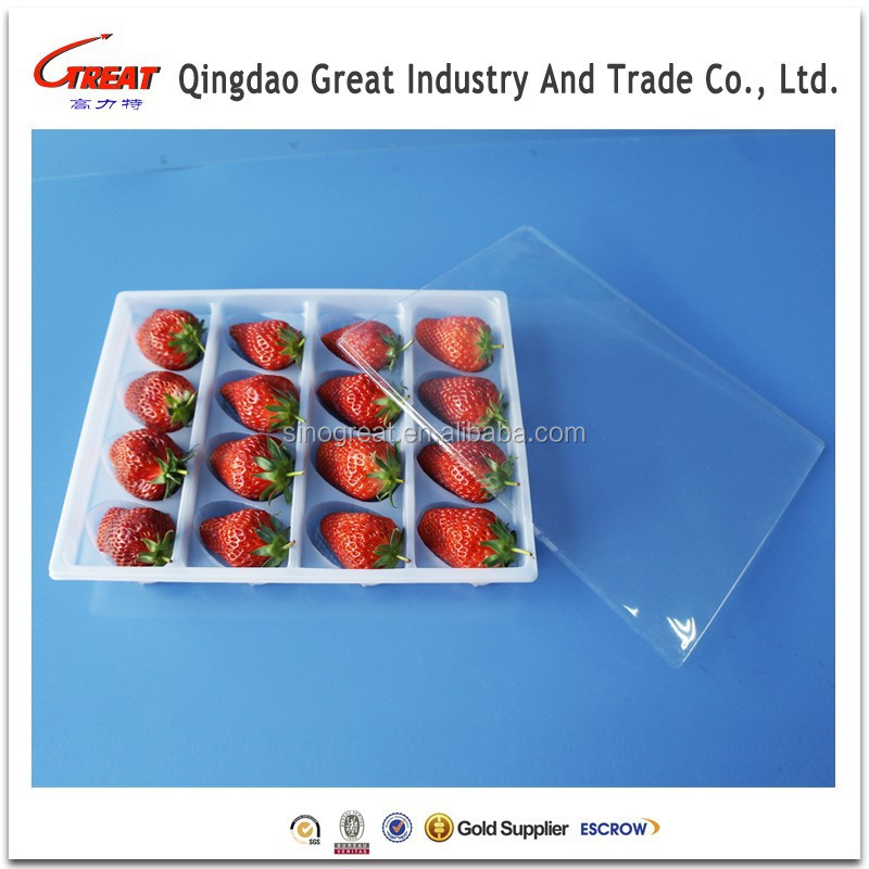 Disposable PVC Fruit Tray Strawberry Packing Tray Dumpling Packaging Tray