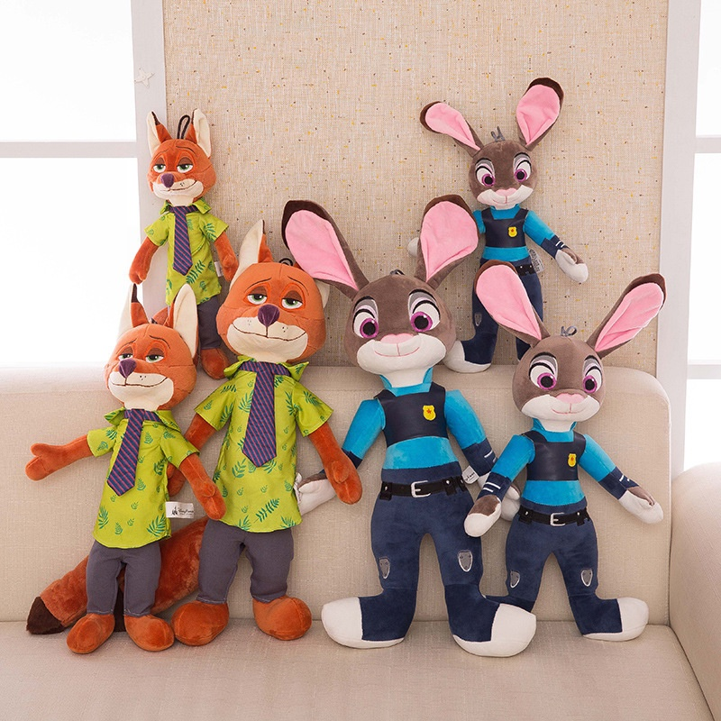 Judy Hopps nick wilde plush doll zootopia plush toys <strong>rabbit</strong> and fox toy
