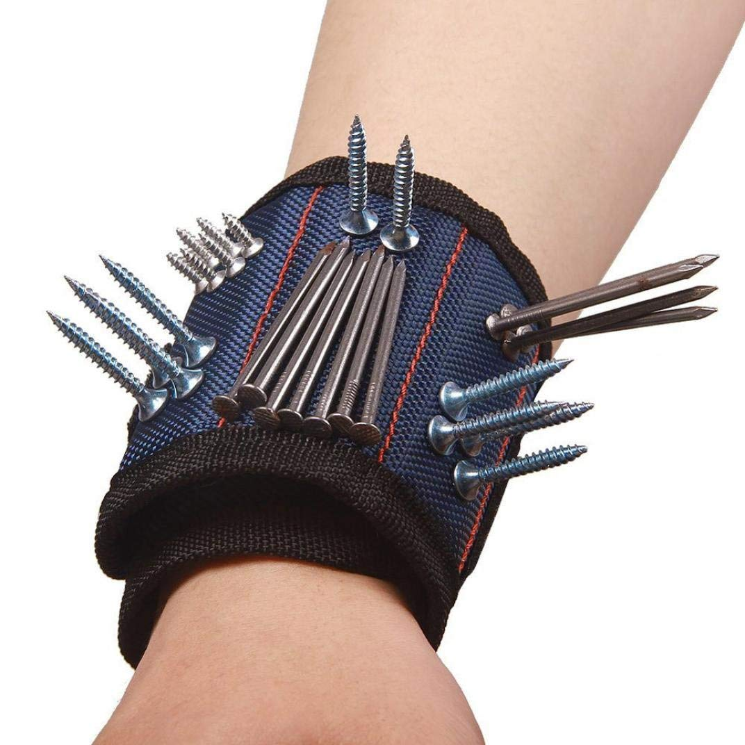 Magnetic Wristband Powerful Magnets Magnetic Tool Wristband Tool Belt for Holding Tools, Screws, Nails, Bolts, Drill Bits and Small Tools, Special Gift for Men, Women, DIY Handyman