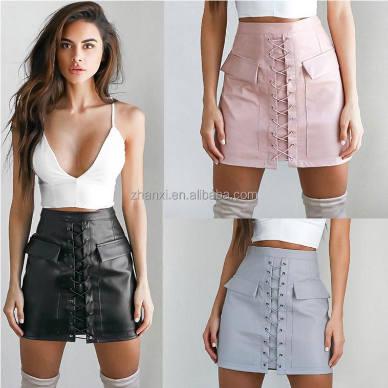 короткая юбка с разрезом сзади