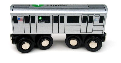 Munipals NYC Subway 4 Car Toy Train Wooden Railway Compatible