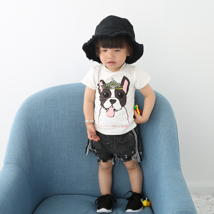 SEV.WEN summer children clothes cartoon print cotton short sleeve girls boys kids t-shirt