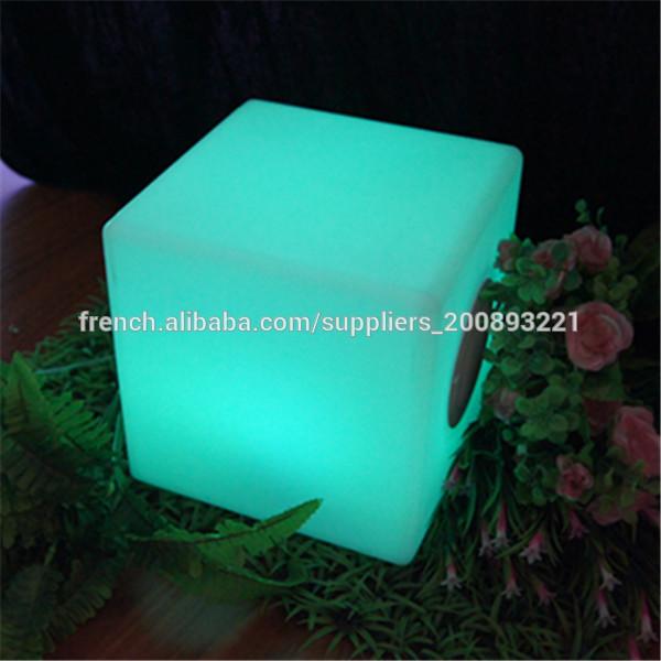 Tabouret De Cuisine Cube Lumineux Pas Cher Lampe Multicolore