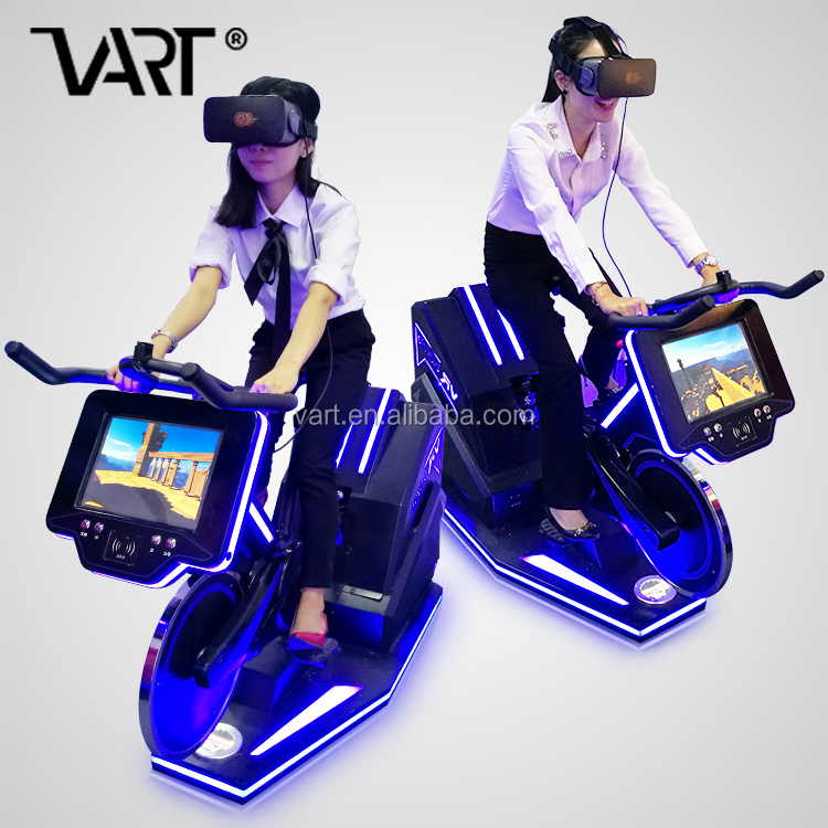 Top Selling Vr Fitness Bike Theme Park Gym Home Exercise Equipment Machine Electric Fitness Vr Bicycle Ride on Bumpy Road