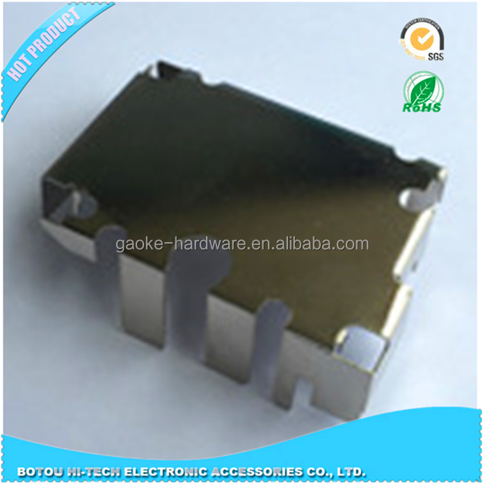 metal stamping part of shielding can with nickel plating