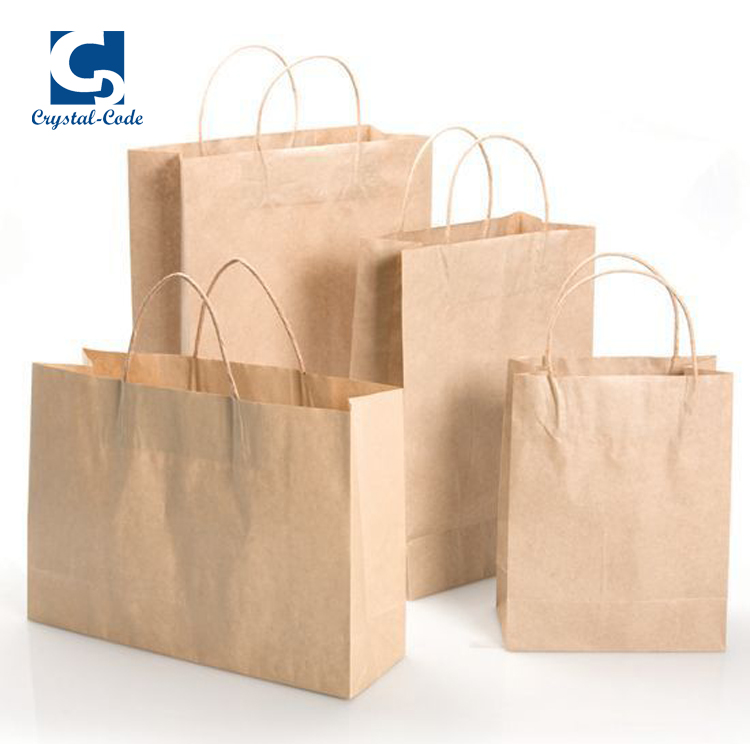 Custom recycled packaging kraft paper shopping bag melaka