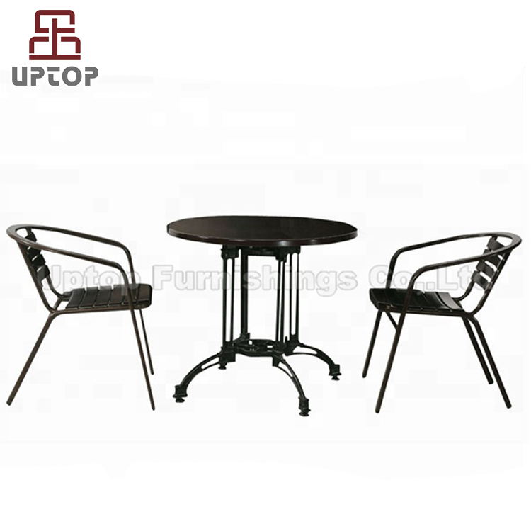 (SP-OT122) Wholesale garden furniture set outdoor wrought iron table and chairs