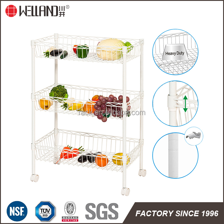 High quality wholesale metal wire fruit and vegetable basket wire rack holders