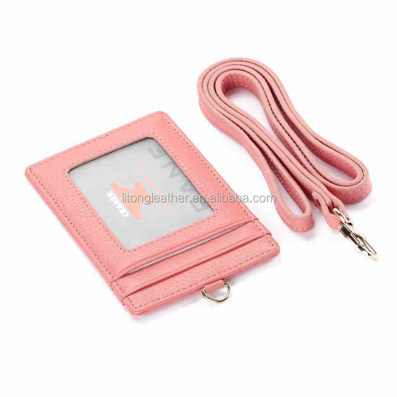 Business Id Card Pouch,Leather Card Holder For Lady,Id Card Holder ...