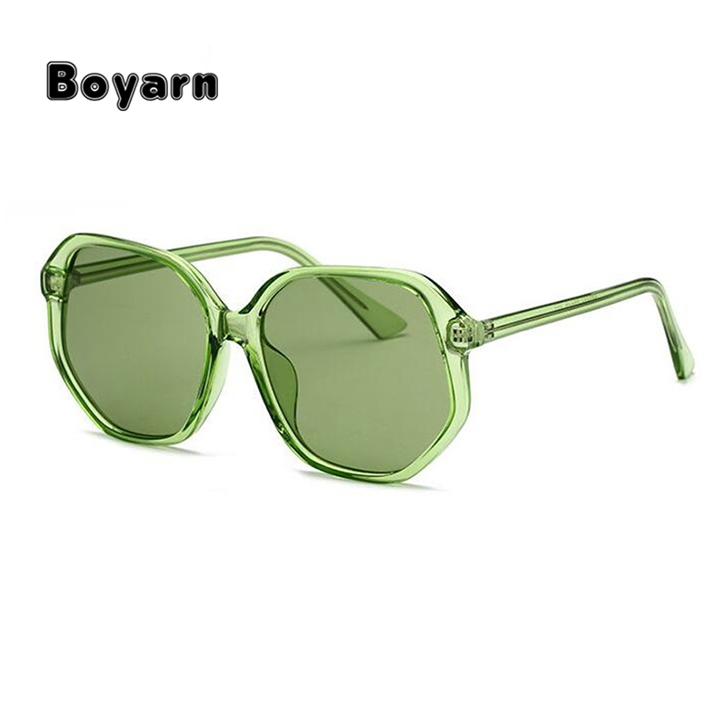 irregular Candy Yellow Women 2018 Luxury Vintage Ocean Green Ladies Shades Purple Unique Female square Oversize Sunglasses