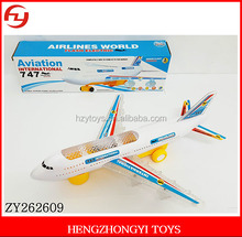 High quality aviation international airlines world flash electric plane toys
