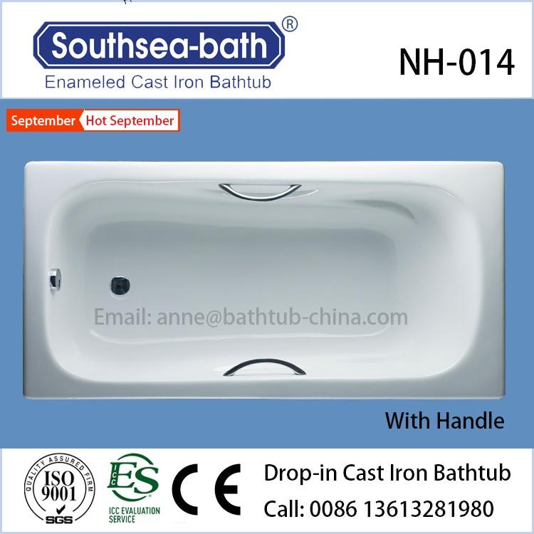 Hot Drop In Hotel Tub White Enameled High Quality Cheap Cast Iron Bathtub