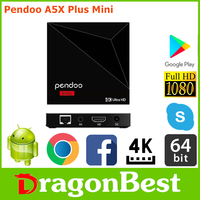 hot style Pendoo A5X Plus Mini RK3328 1G 8G full hd 1080p set top box with Long Service Life Android 7.1 TV Box