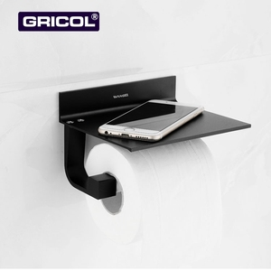 Gricol Spare Cut Wall Mount Paper Towel Holder Toilet Paper Roll Holder Fold Paper Towel Holder