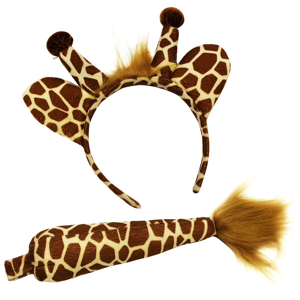 Giraffe Headband and Tail - Giraffe Costume - Animal Costume Accessory Set by Funny Party Hats