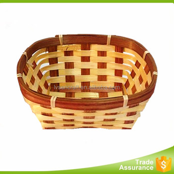 Cheap high quality easter bamboo storage basket