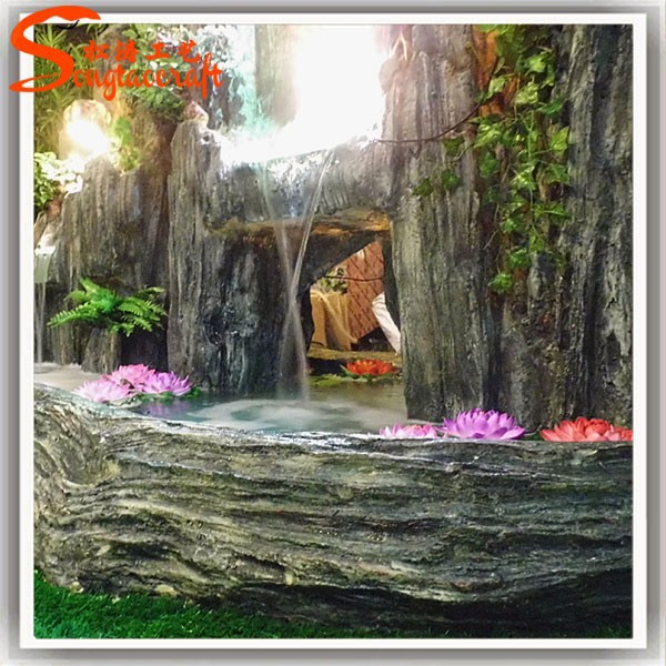 Pi durevole quasi naturali di grandi dimensioni fontana for Fontane a cascata da giardino