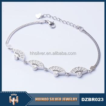 Dzbr Wholesale 2016 New Simple Design S925 Silver Bracelet For Teen