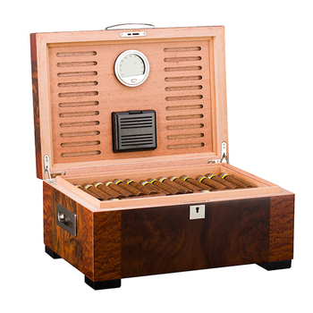 2018 Hot Selling  Electric Cigar Humidors Wooden Cigar Cabinet  Humidor