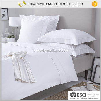 Stable Quality Cotton Bed Linen White Bedding Set