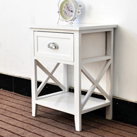 Branded modern bedside table home furniture night stand European rural tables drawers bedroom