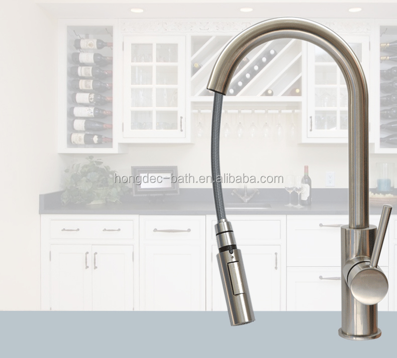 Motion Sense Wave Sensor Touchless Stainless Steel Kitchen Tap Pull Down Kitchen Faucet