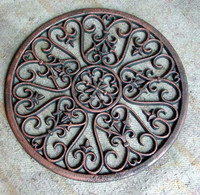 round shape door mat cast iron