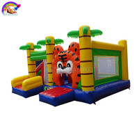 Colorful Inflatable Bouncer Castle Adult Inflatable Bounce House With Slide