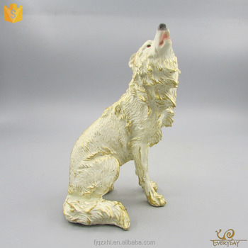 Customized Wolf Figurine, Polyresin Wolf Garden Statues, Resin Life Size  Wolf Sculpture