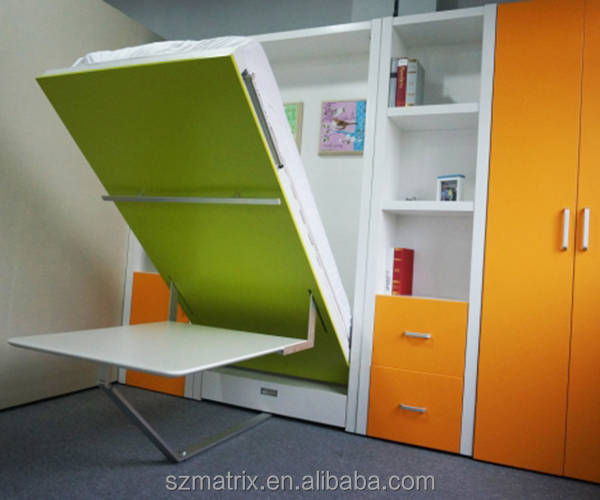 Space saving furniture folding bed with dinning table - Beds attached to the wall ...