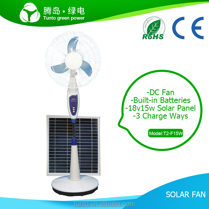 Factory price Solar fan ceiling exhaust dc motor stand with mini usb air cooler car rechargeable portable 12v Built-in battery