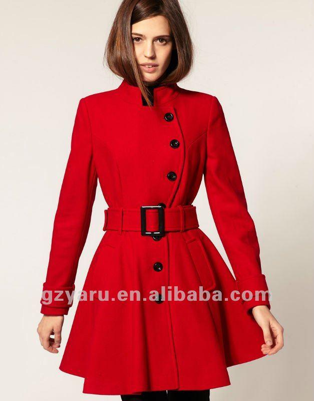 Mujeres moda abrigo de modelismo