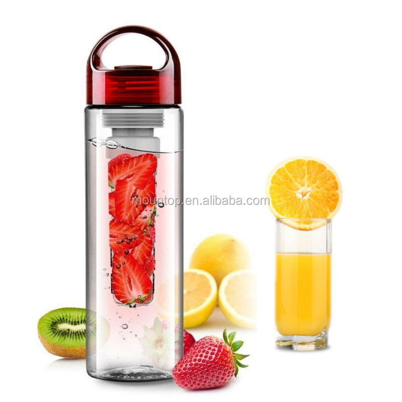 Protein Shaker Bottle For Weight Loss Shakes Fruit Infuser Sport Water Bottle for outdoor With BPA Free By HMILYDYK-Yellow