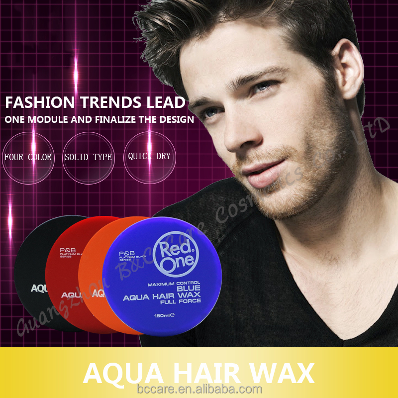 Maximum control aqua water based hair gel wax hair styling wax red one