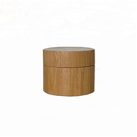 Bamboo Texture Empty Storage Container Bottle Refillable Cosmetic Face/eye PET Cream Jar 50ml