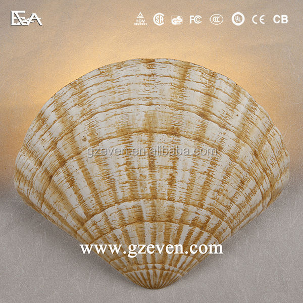 European style scallops LED plaster indoor electronic wall lamp LED gypsum plaster wall light