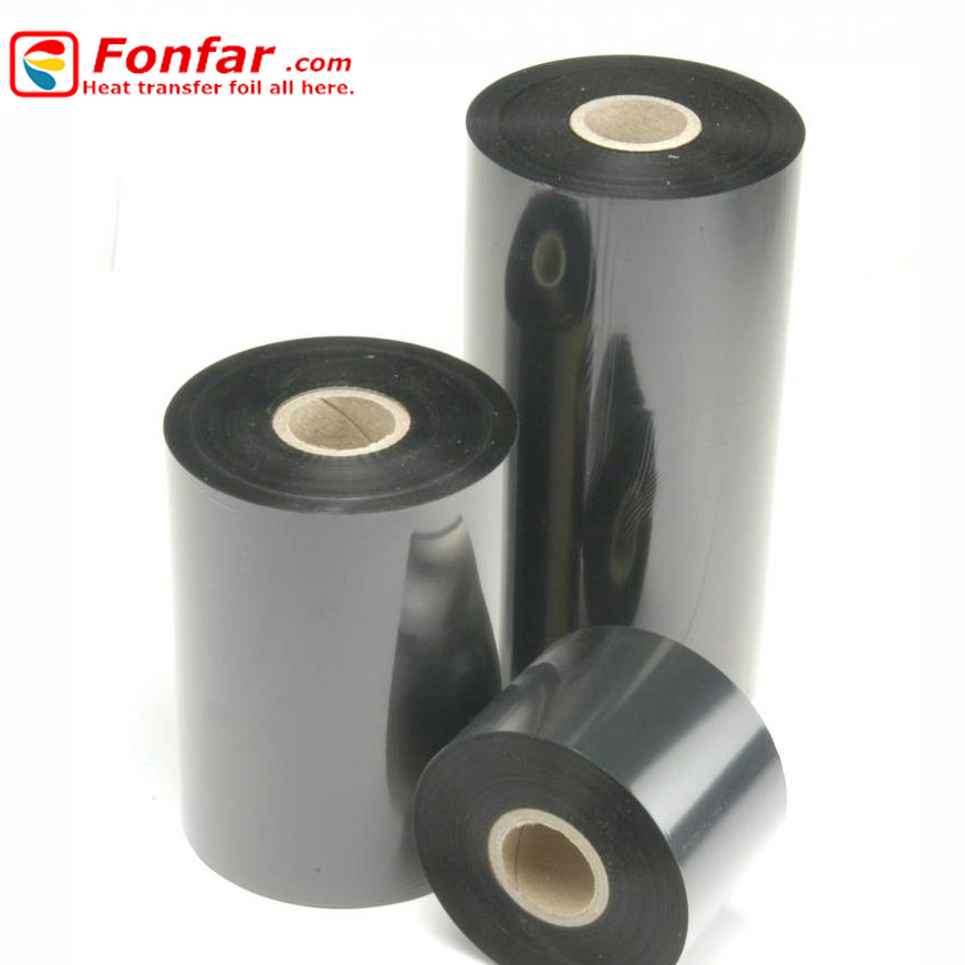 Thermal transfer barcode ribbon wax ,resin ribbon,wax-resin ribbon apply to Zebra barcode printer