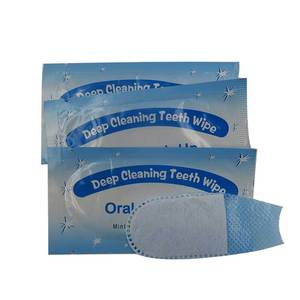Finger Teeth Wipes Cleaning Teeth Wipes For Teeth Whitening