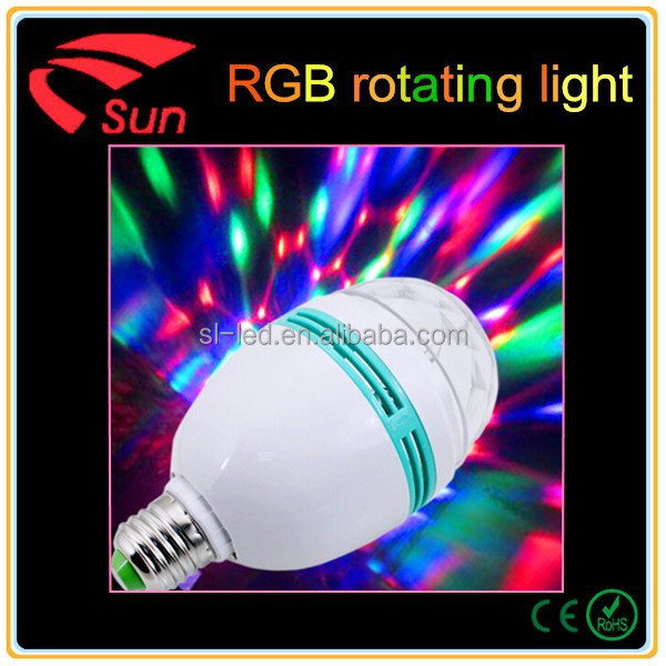 Hot Sale Rgb Projection Stage Light Led E27 Colors Rotating Party ...