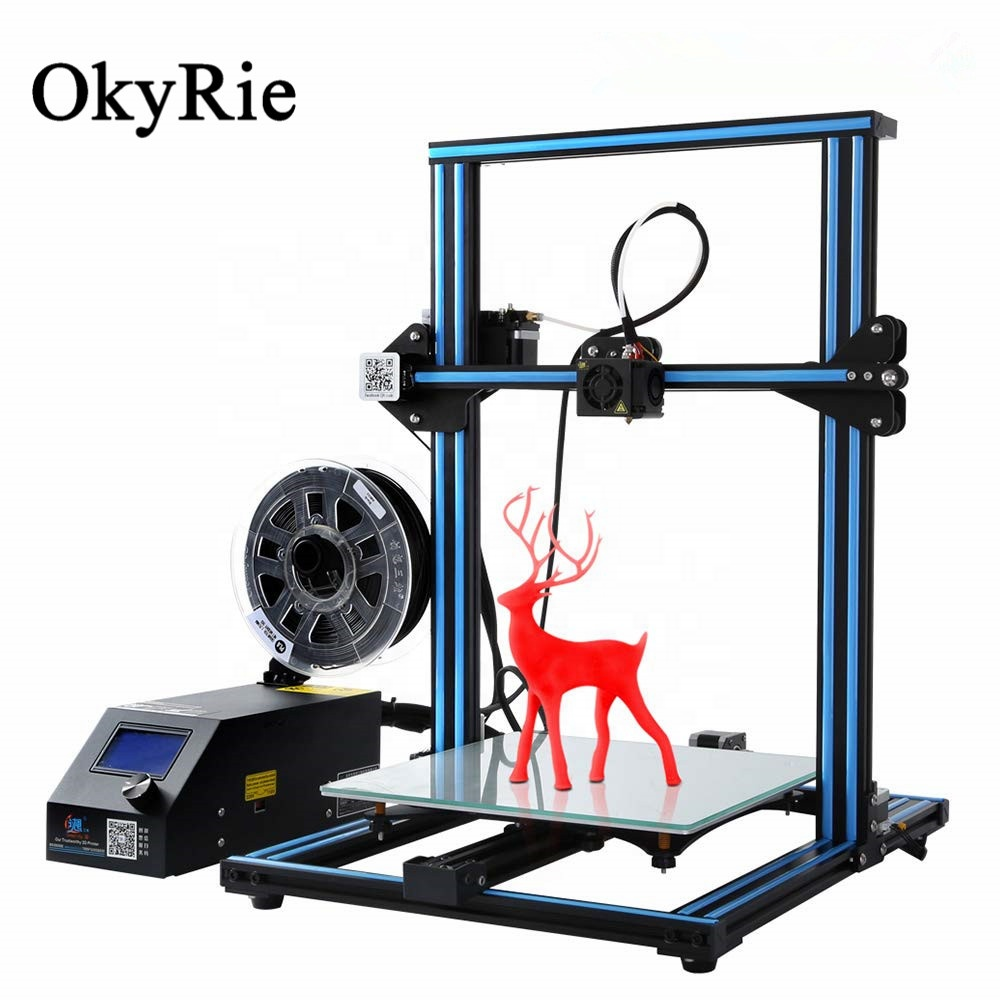 OkyRie Creality CR-10S Filament Detector Power Off Hervatten 300x300x400mm Groter Formaat DIY Digitale 3D Printer machine