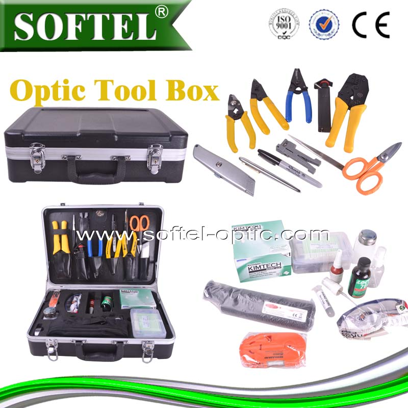34PCS Fiber Optic Termination Kit, optical fiber tool box (For SC/ST/FC and LC Connectors)