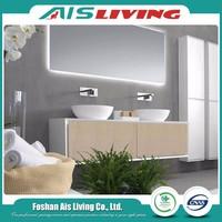 Double sink melamine vanity modern bathroom cabinets