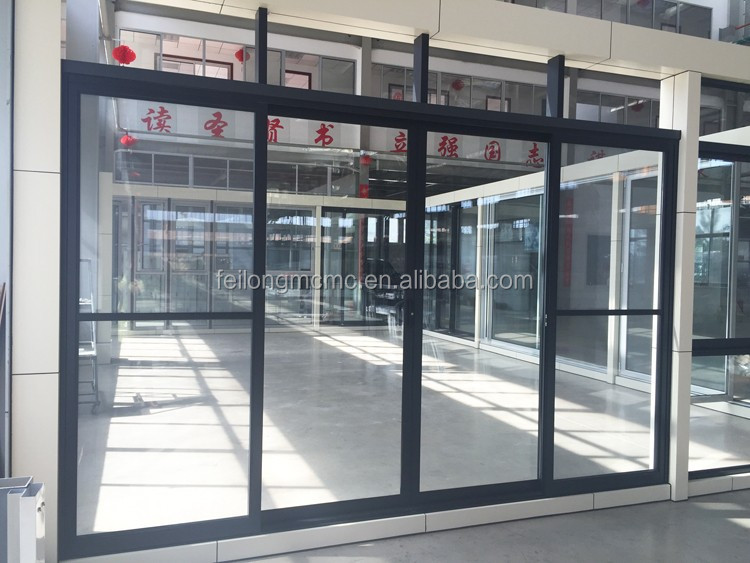 Aluminum Frame 4 Sashes Glass Sliding Door With Flyscreen Door Passed AS2047 Australia Standard & Aluminum Frame 4 Sashes Glass Sliding Door With Flyscreen Door ...