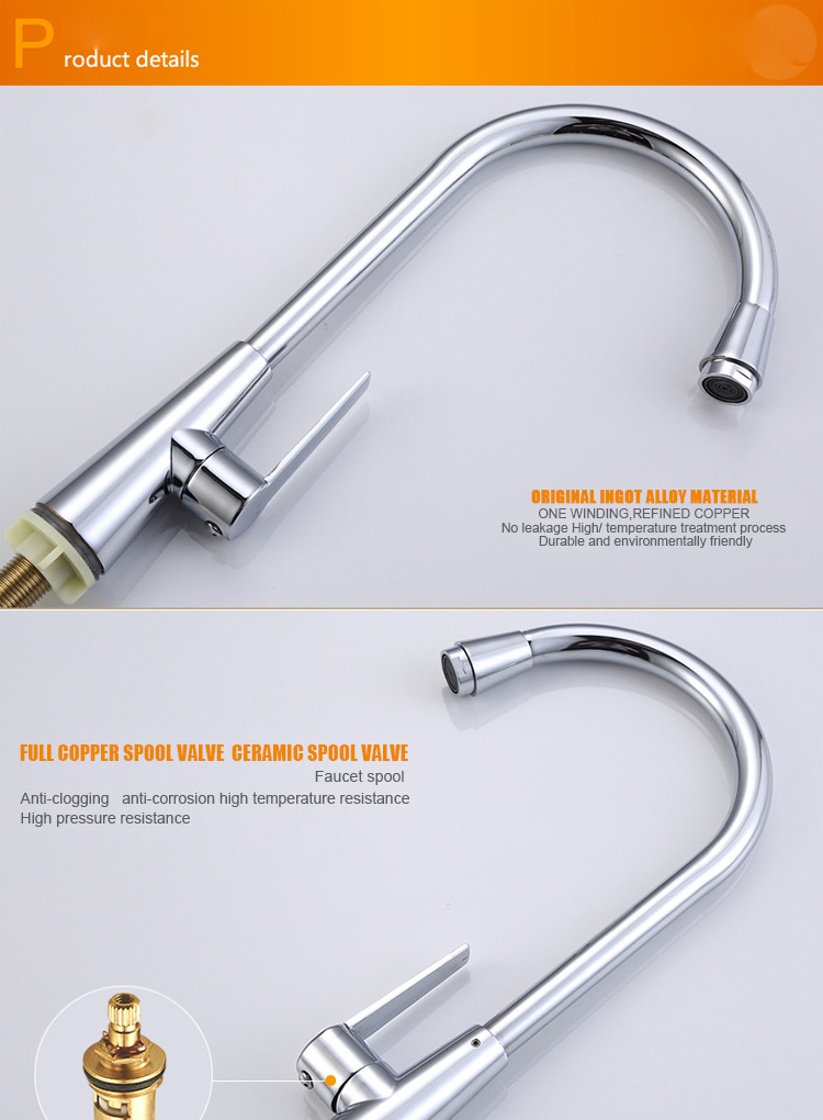 Factory Manufacturer Single Hole Single Handle Kitchen Sink Cold Water Faucet