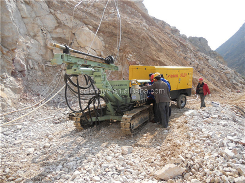 Crawler Hydraulic Drilling Rig Z115Y For Soil Nailing Project